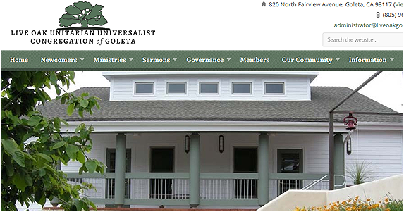 First Crescent Designs Web Development Santa Barbara California - Live Oak Unitarian Universalist Congregation of Goleta